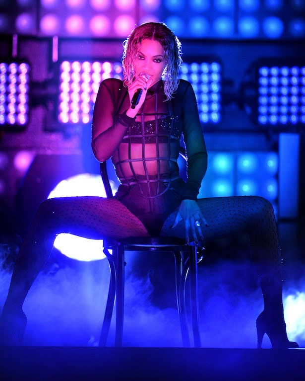 Beyoncé onstage during the 56th Grammy Awards at the Staples Center