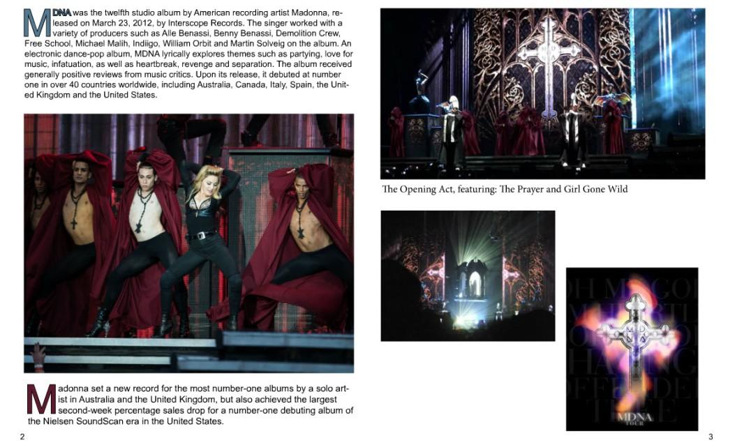 Madonna's MDNA World Tour 2012 Magazine