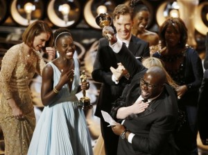 """Steve Mcqueen accepts the Oscar for Best Picture for """"12 Years of Slave"""""""