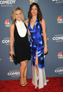 Aubrey Plaza & Amy Poehler Live from the red carpet at the 2014 American Comedy Awards in New York City.