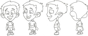 Sketch Process which leads into a 2D Animated Figure