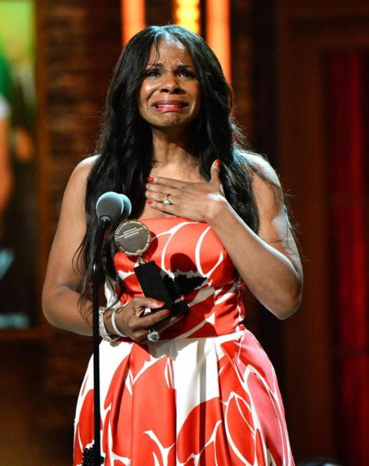 Audra McDonald accepting her tony and making record history - McDonald got the standing ovation from her peers.