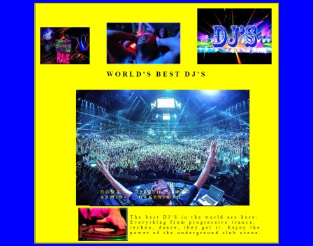 DJ'S Website - Created and Designed By Felipe M.