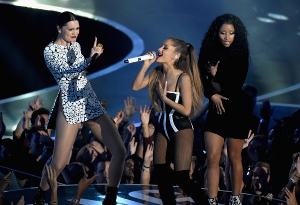 Jessie J, Ariana Grande and Nicki Minaj perform at VMA'S 2014