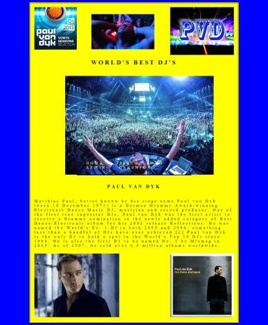 Paul Van Dyk - Designed and Created by Felipe M.