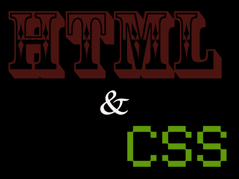 HTML & CSS Logo - Created by Felipe M.