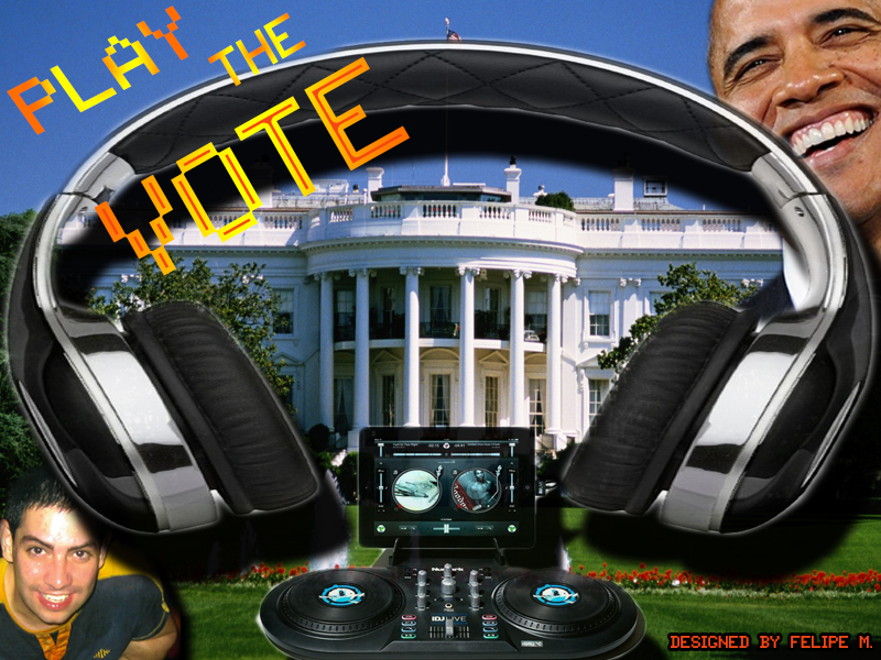 Play the Vote - Graphic Banner Designed by Felipe M