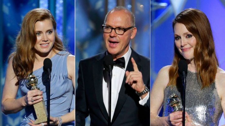 Amy Adams, Michael Keaton and Julianne Moore are honored with the Golden Globe