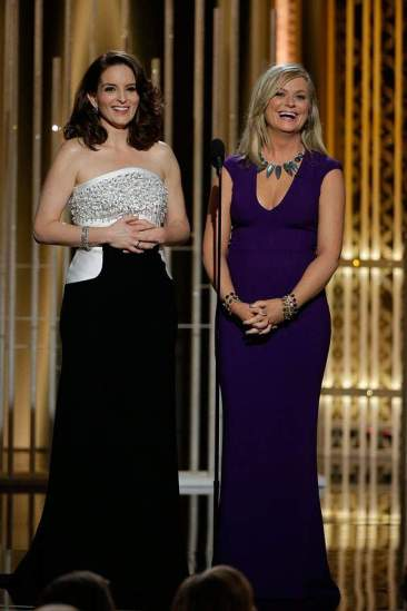 Tiny Fey and Amy Poehler - 72nd Annual Golden Globe Awards