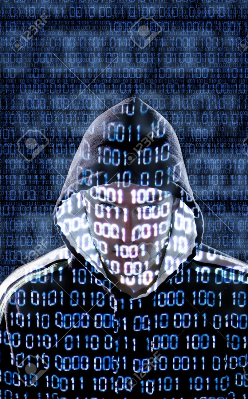 19196912-Hacker-with-binary-codes-looking-directly-to-the-camera-Stock-Photo
